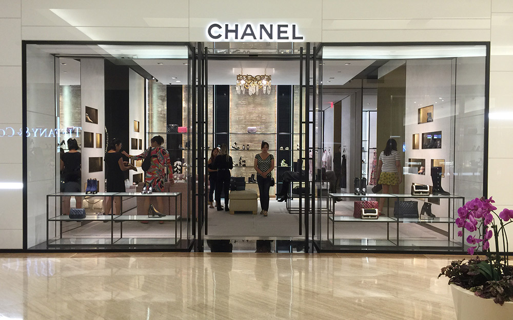 chanel handbag storefront South Coast Plaza