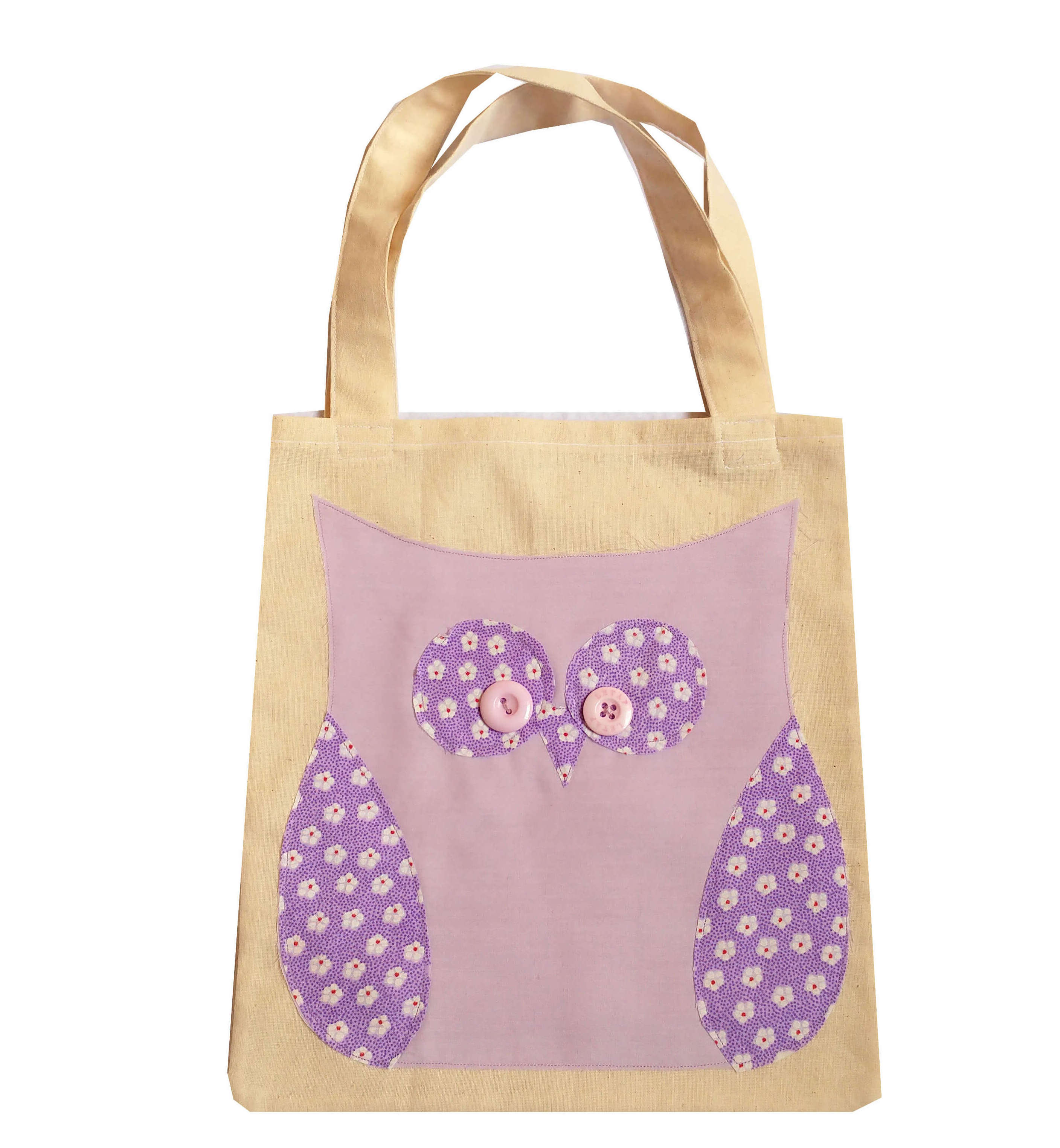 childs owl tote bag