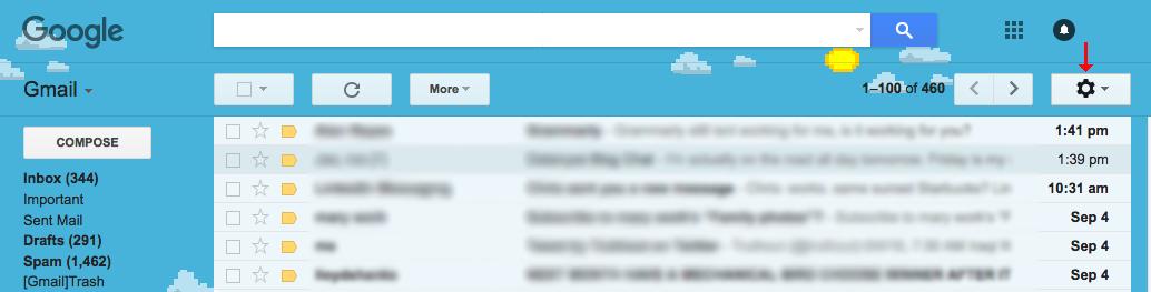 click on settings wheel