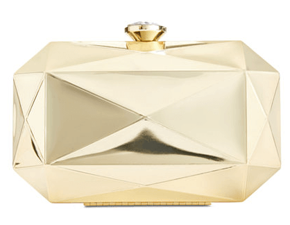 inc internaltional concepts milie mirrored clutch gold