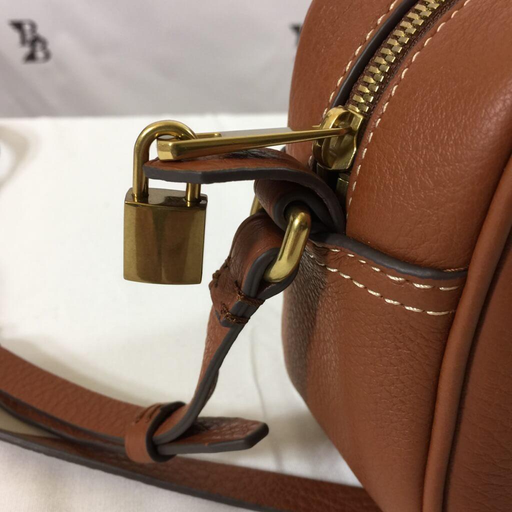 leather lock closeup
