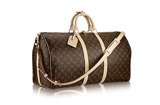 Louis vuitton keepall monogrammed duffel bag