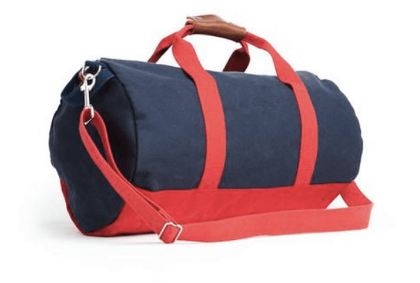 Own and fred work hard play hard navy duffel bag