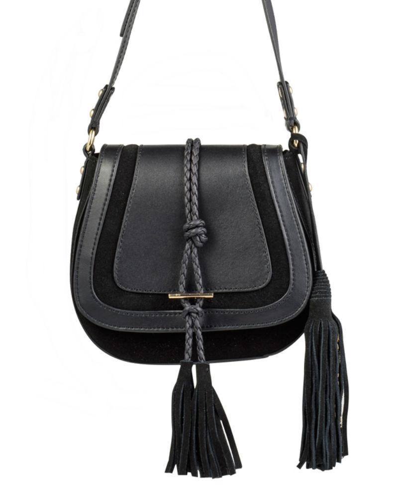nikki williams black saddle bag close up