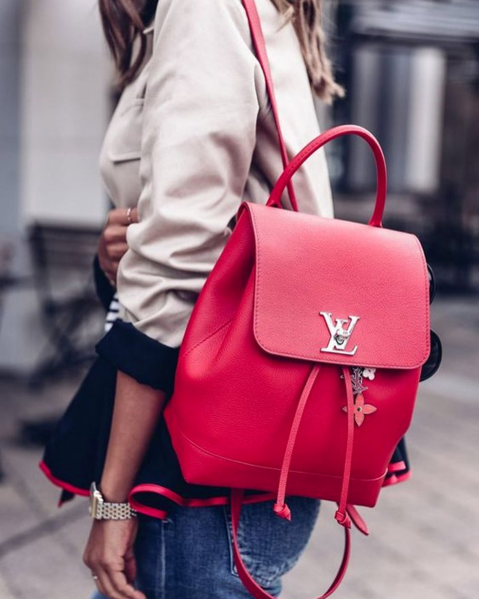 louis vuitton lockme backpack red