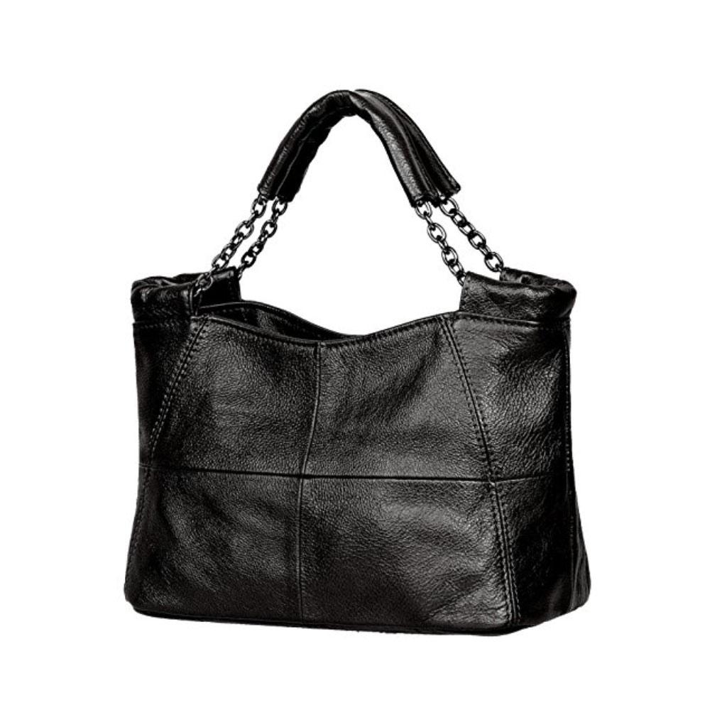Jack&Chris Splicing Satchel Crossbody Leather Top Handle Handbag