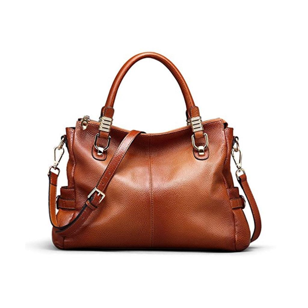Kattee Womens Genuine Leather Handbag Urban Style Satchel Tote Bag