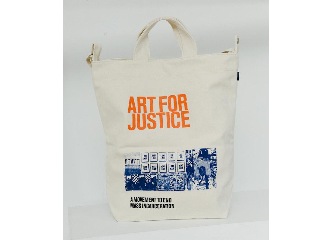 art for justice baggu bag