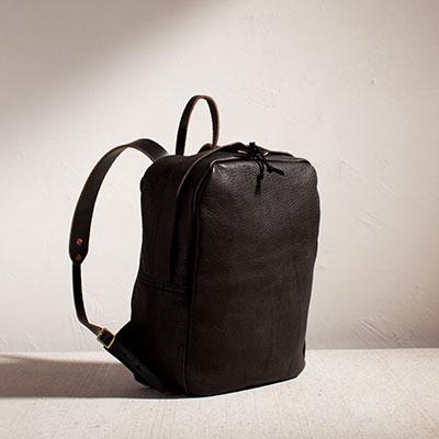 joshue vela zip backpack black leather