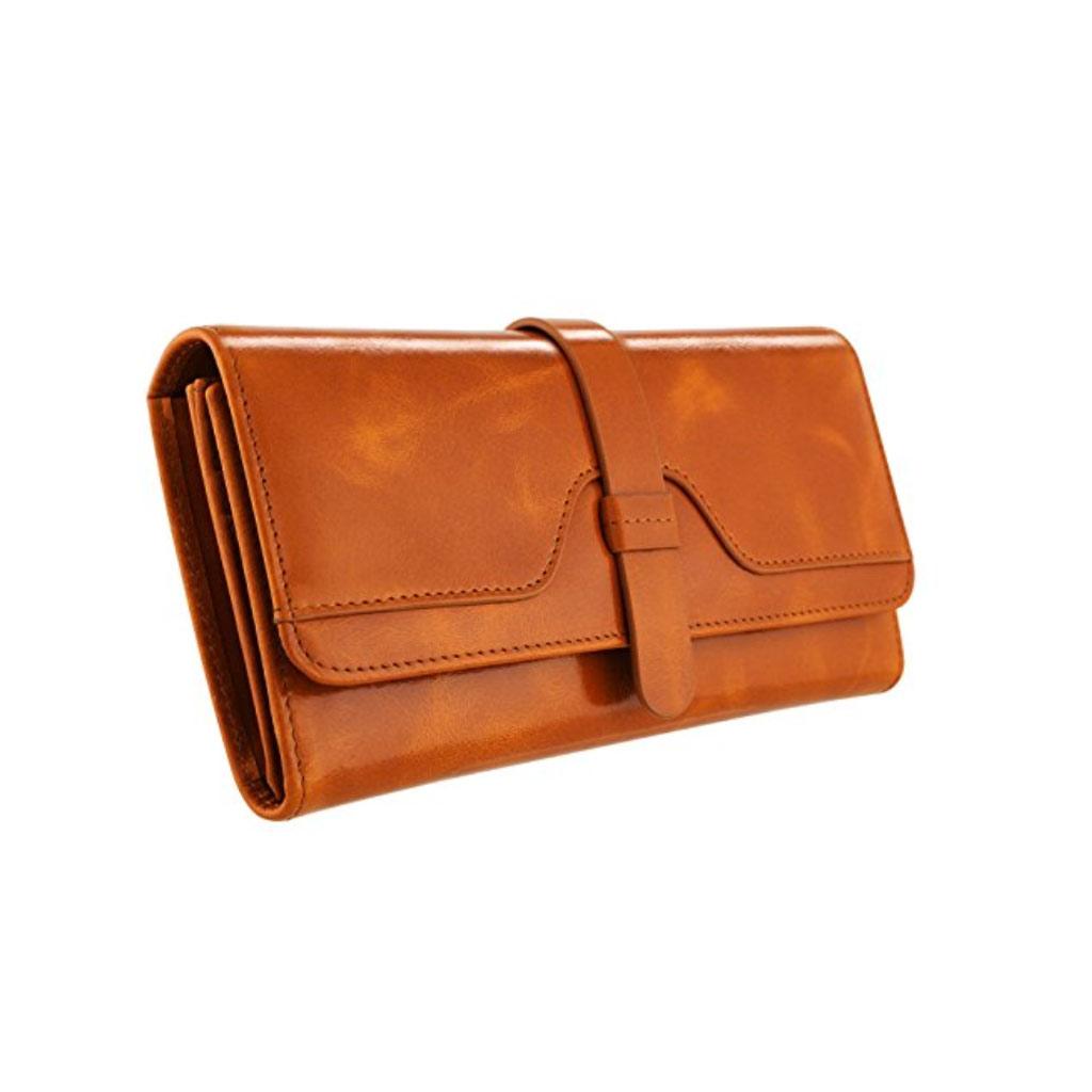 kattee trifold RFID genuine leather wallet