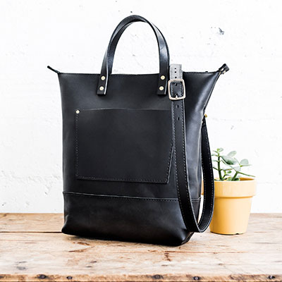 portland leather goods crossbody tall tote