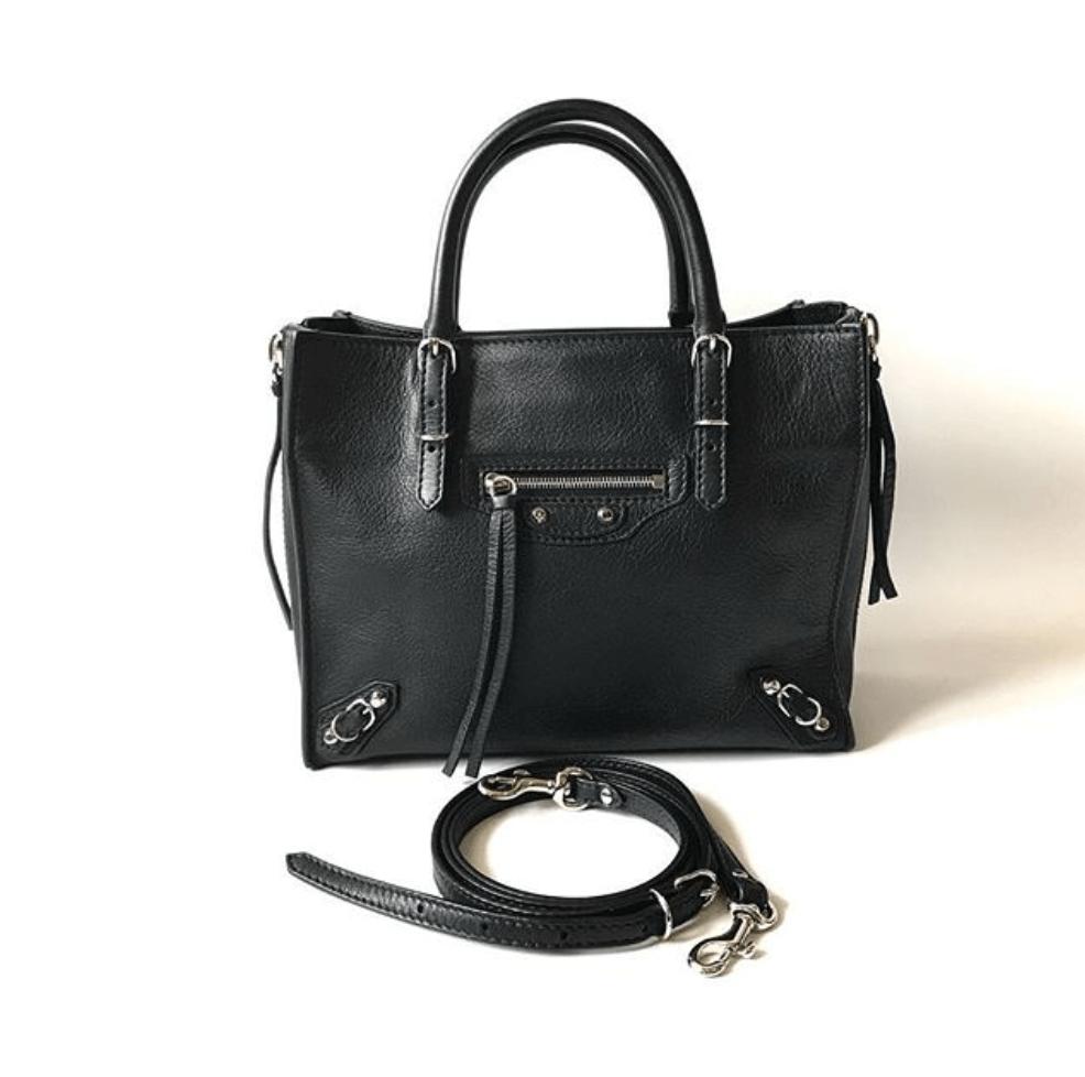 balenciaga-papier-black-leather-handbag