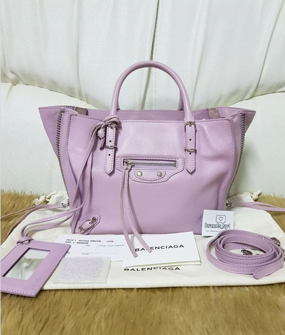 balenciaga-papier-lavender-handbag