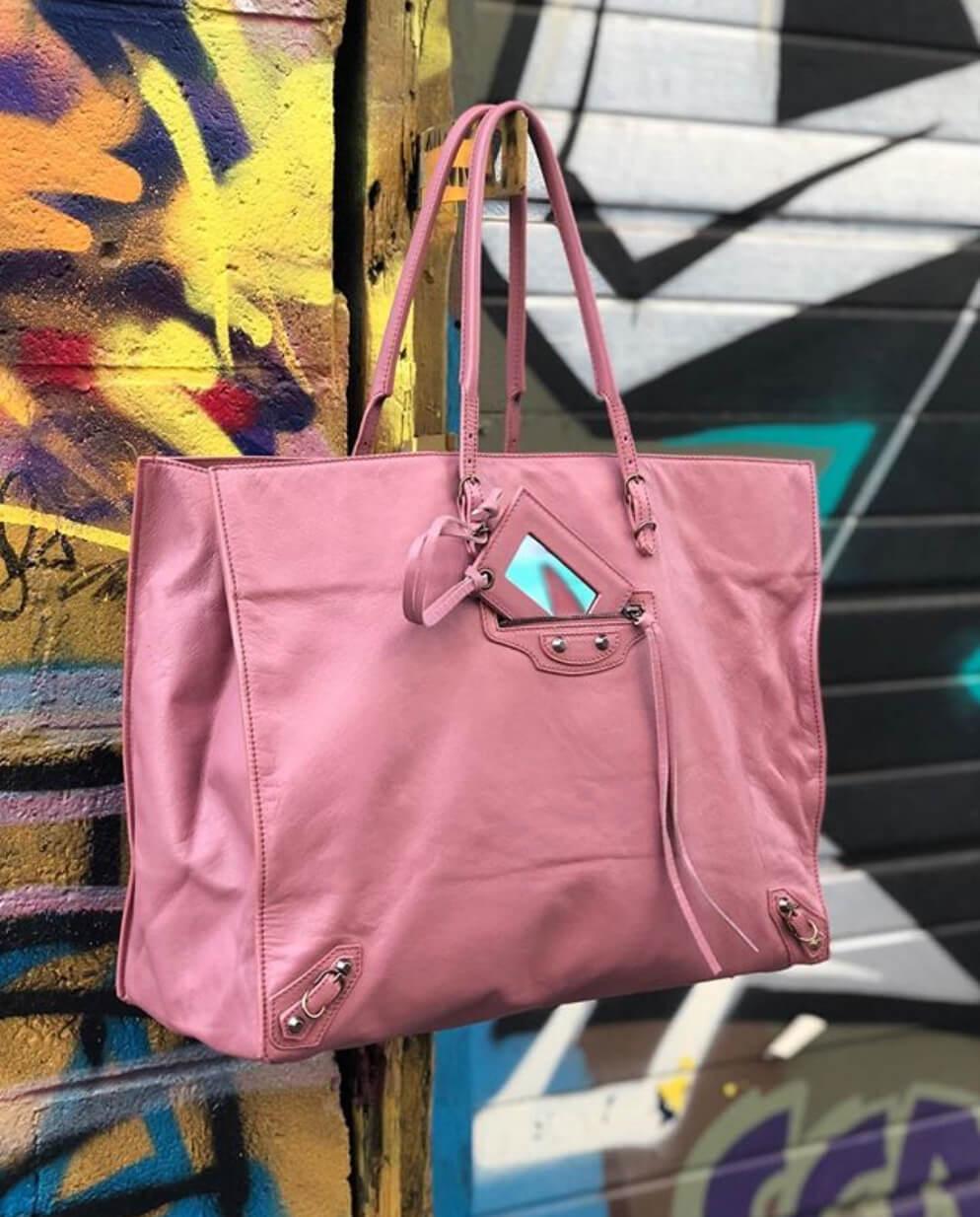 balenciaga-papier-pink-handbag