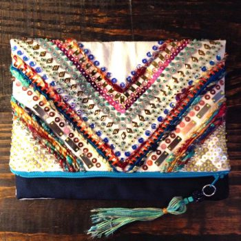 Embellished Bohemian Clutch