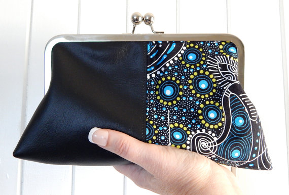 Faux Leather Clutch Hand