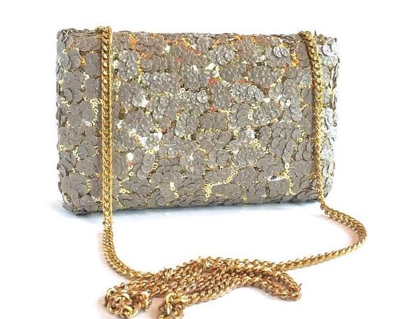 Sequin Clutch Front