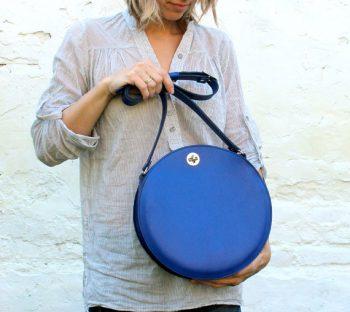 Round Blue Bag