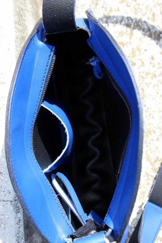 Blue bag inside