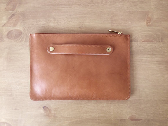 Leather clutch back 2