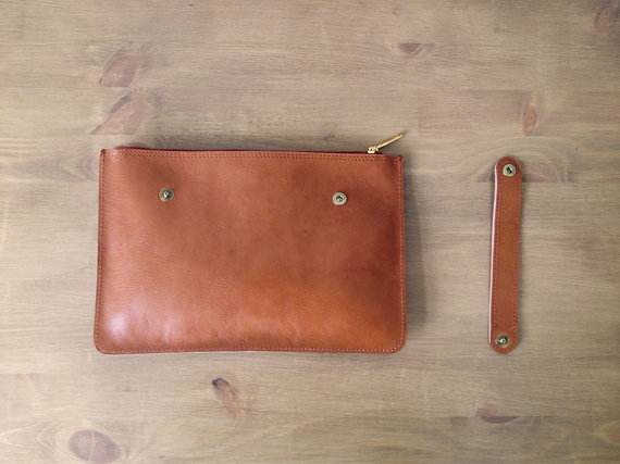 Leather clutch back