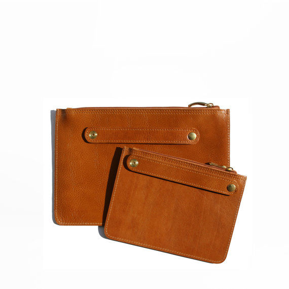 Leather clutch backs