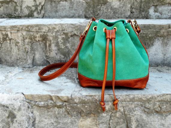 Kelly Green Bucket Bag