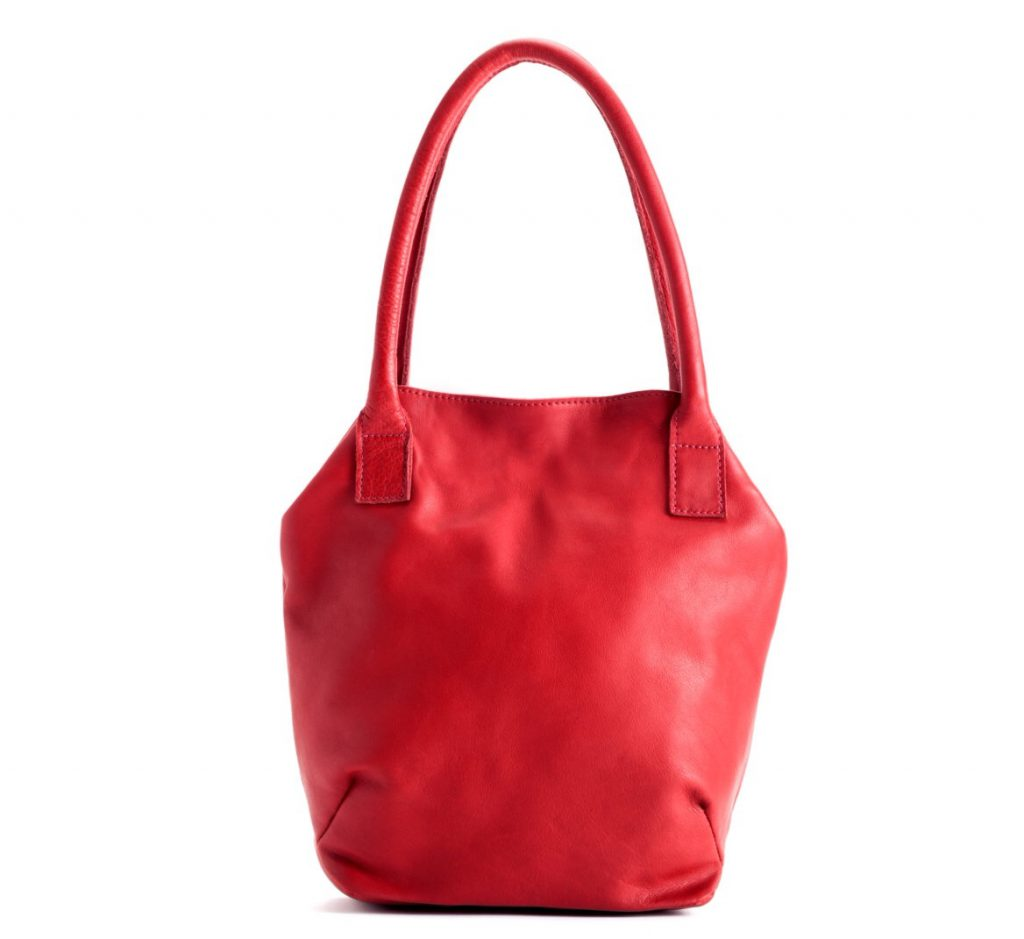 Red Napa Leather Handbag