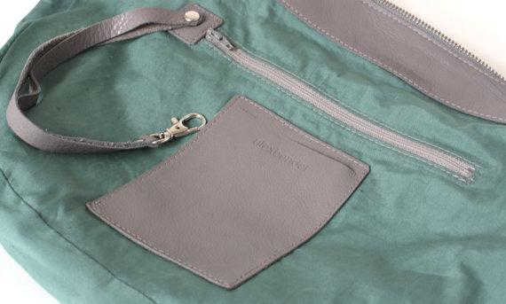 Gray Hobo Bag Inside