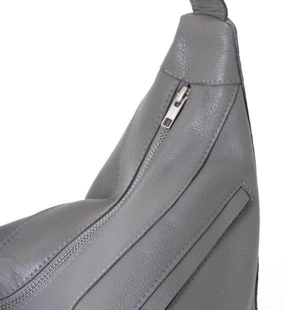 Gray Hobo Bag Up Close