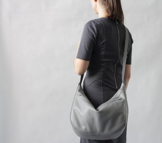 Gray Hobo Bag by A
