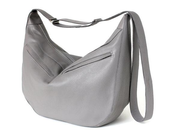 Gray Hobo Bag