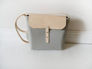 Gray and Tan Purse