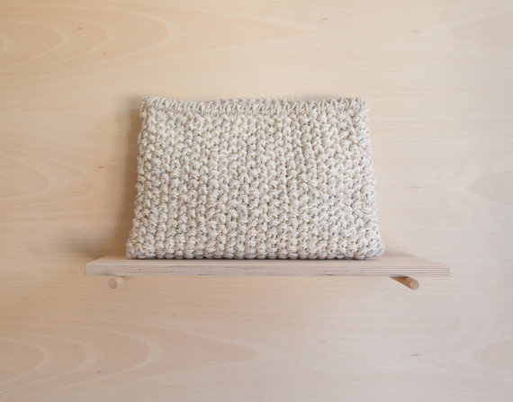Knit Clutch Front