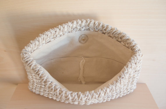 Knit Clutch Open