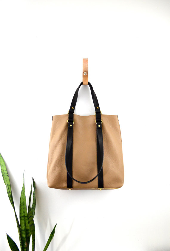Leather Tote Front