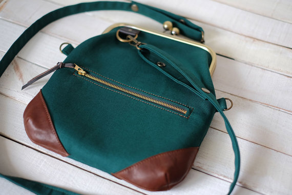 Green Crossbody Close