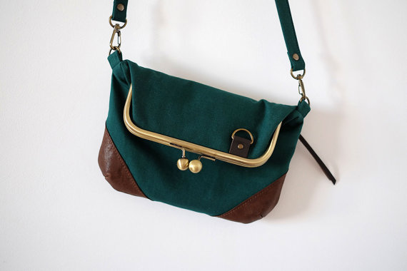 Green Crossbody Closed