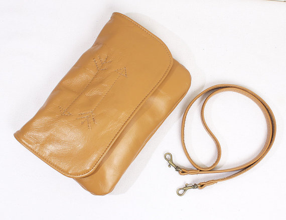Tan Crossbody Front