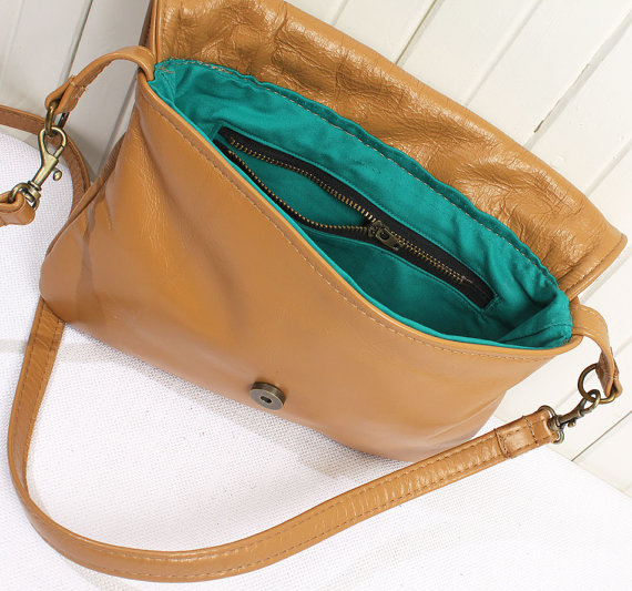 Tan Crossbody Open