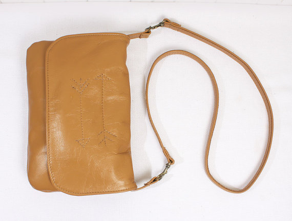 Tan Crossbody Side