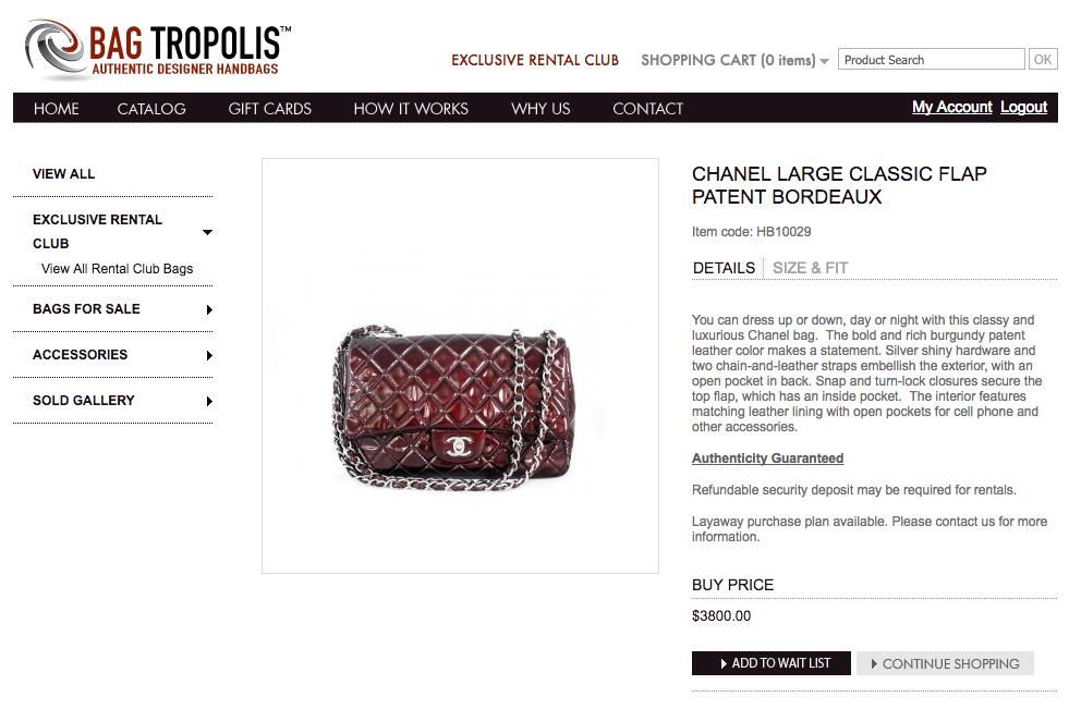 bagtropolis chanel large classic flap patent bordeaux