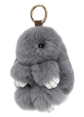 super-cute-monster-fox-fur-bag-charm-rabbit-gray