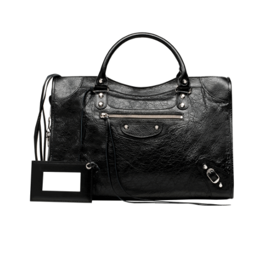 balenciaga-classic-silver-city-medium-black
