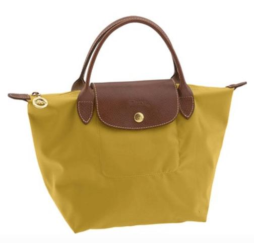 longchamp mini le pliage handbag mustard yellow