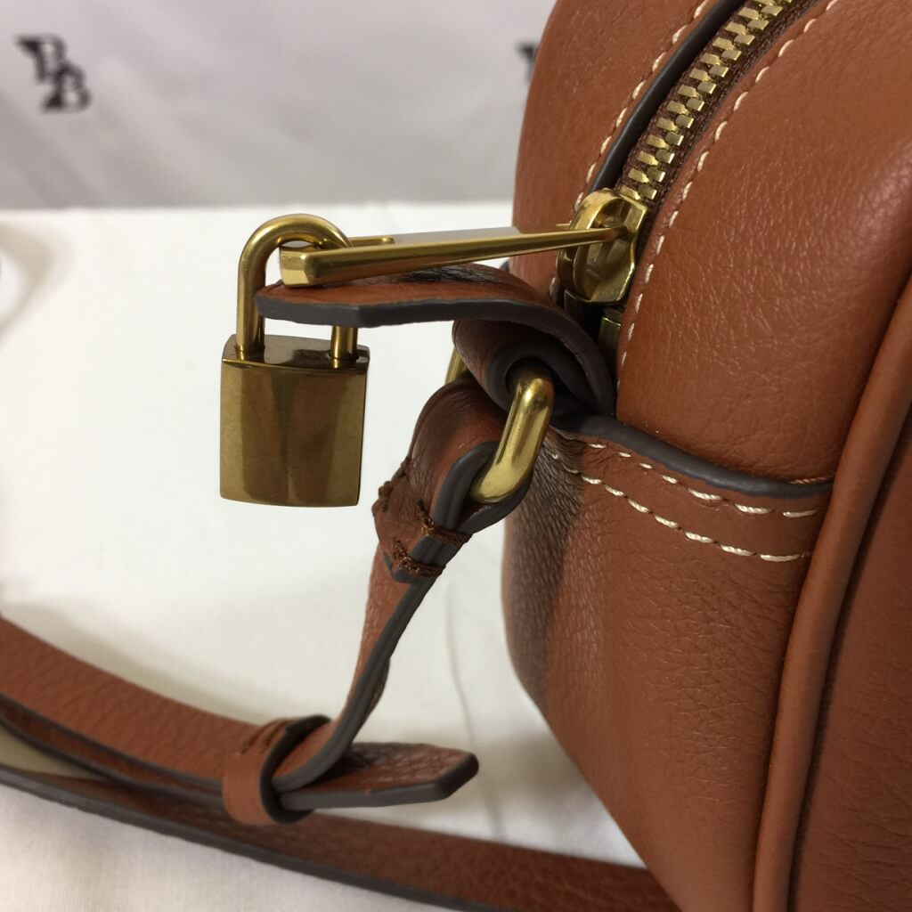 leather lock closeup