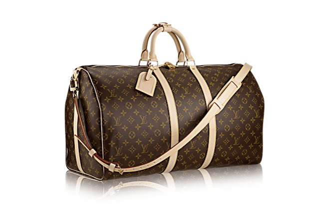 Louis vuitton keepall monogrammed duffel bag