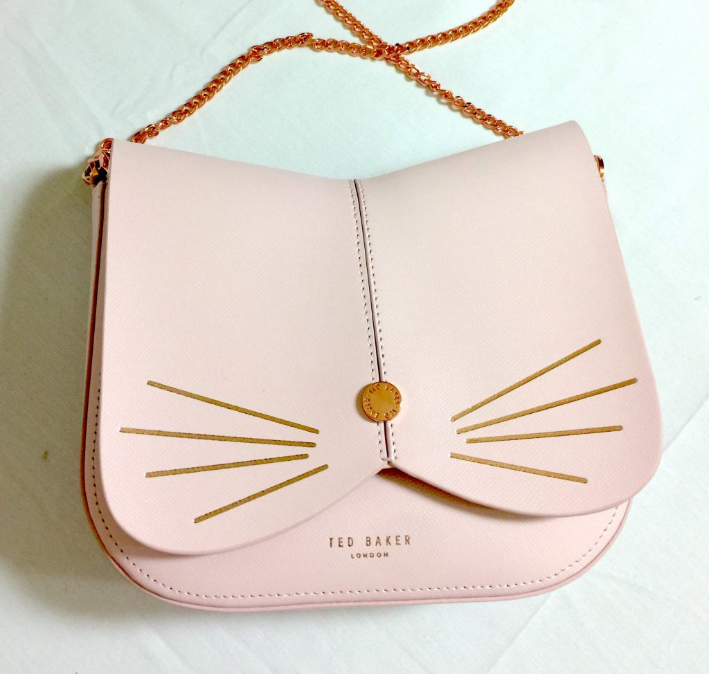 TedBaker Kitty pink leather crossbody
