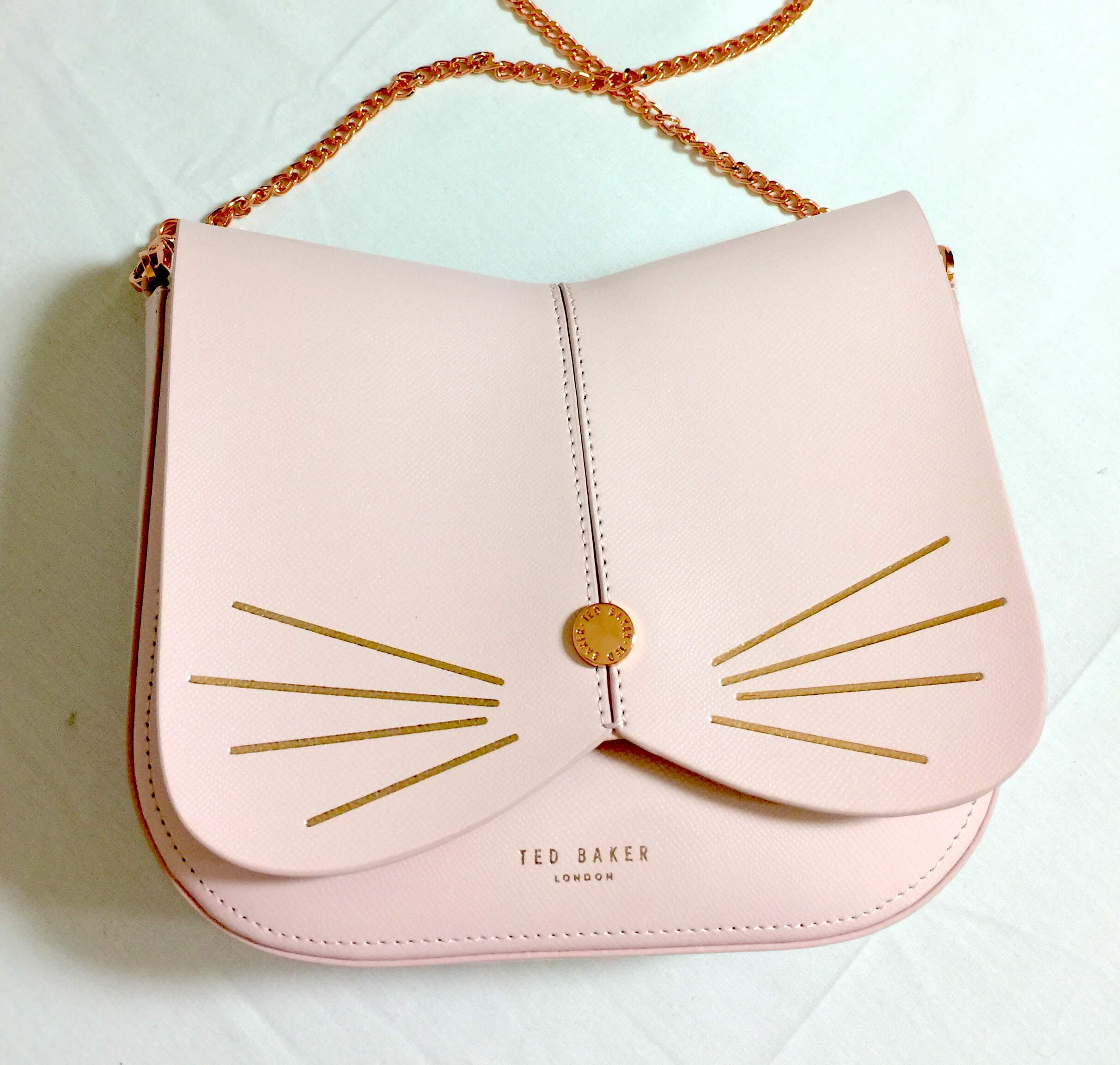 Ted Baker Cat Leather Crossbody Bag In Baby Pink Review
