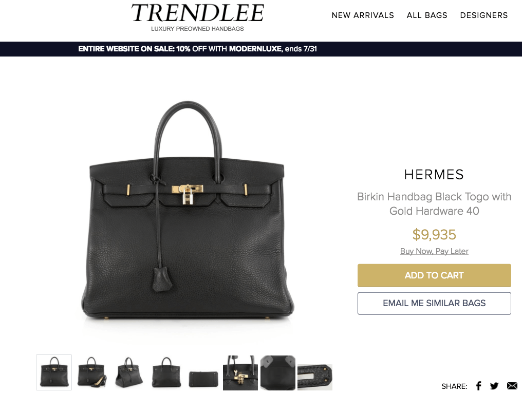 7f2ee36b8b Trendlee only handles well curated high-end designer handbags